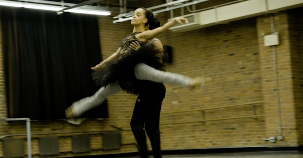 This ballerina inherited a love of dance from her mom, even though she's adopted.