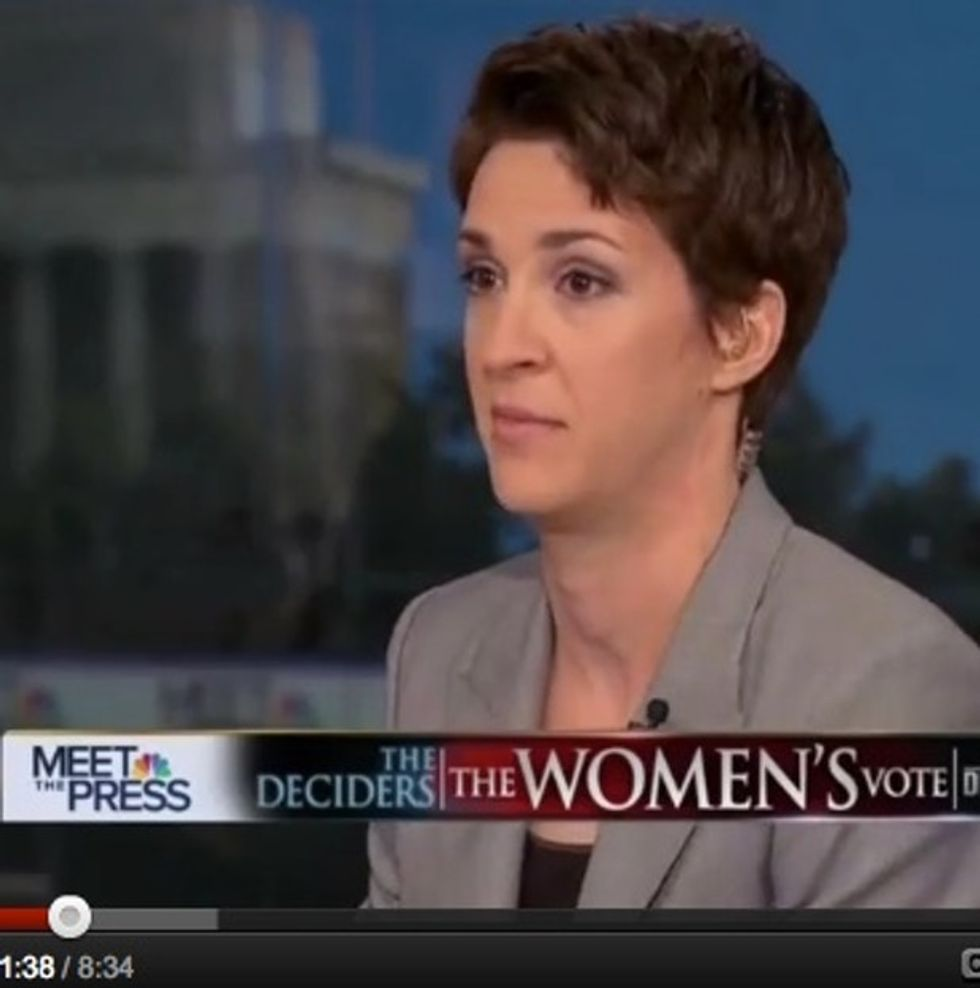 THE WAR ON WOMEN: Watch Rachel Maddow Punch A Sexist In The Face With Her Brain