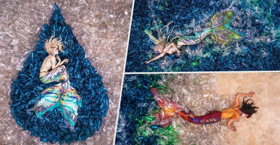 These stunning mermaid photos may change how you look at plastic.