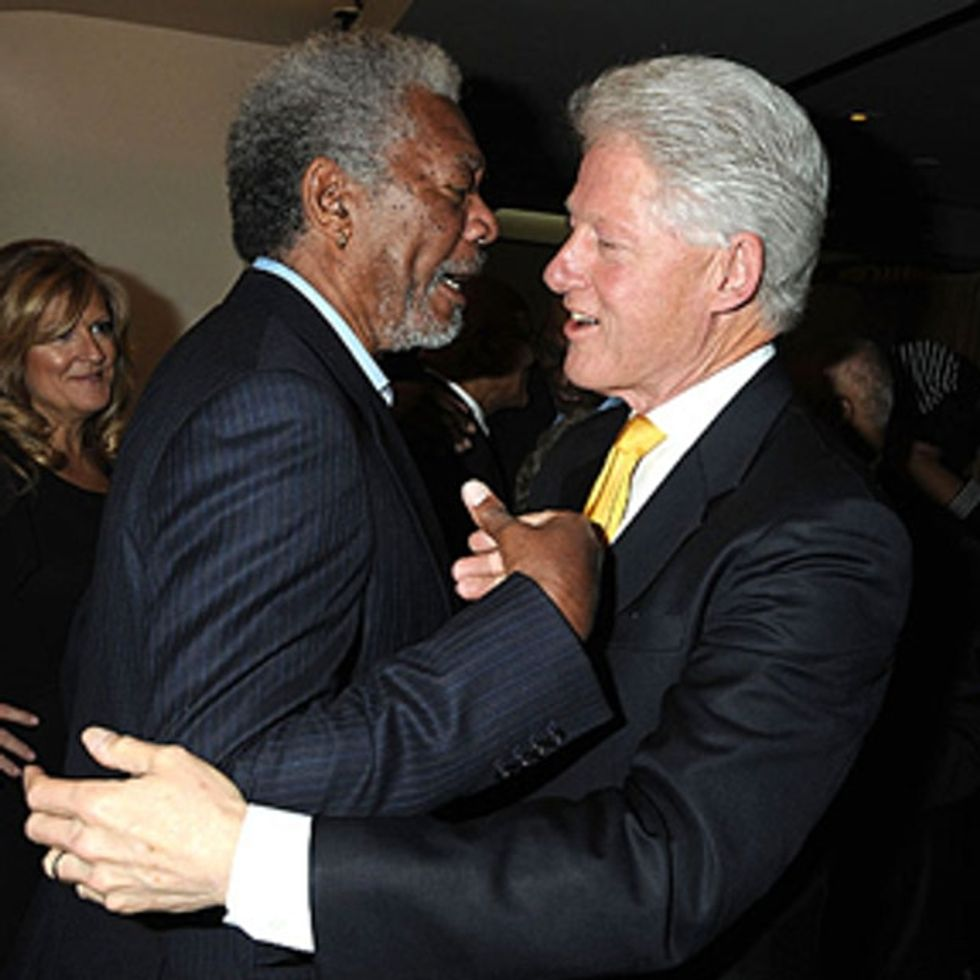 Did You Know There's A New Movie Starring Morgan Freeman And Bill Clinton? Because There Is.