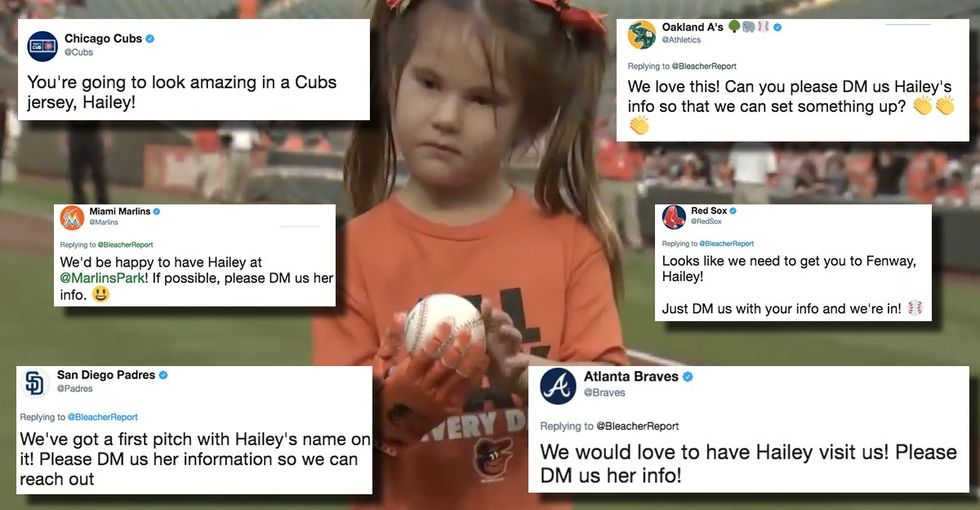 After a viral video, the most sought-after pitcher in baseball is this 7-year-old girl.