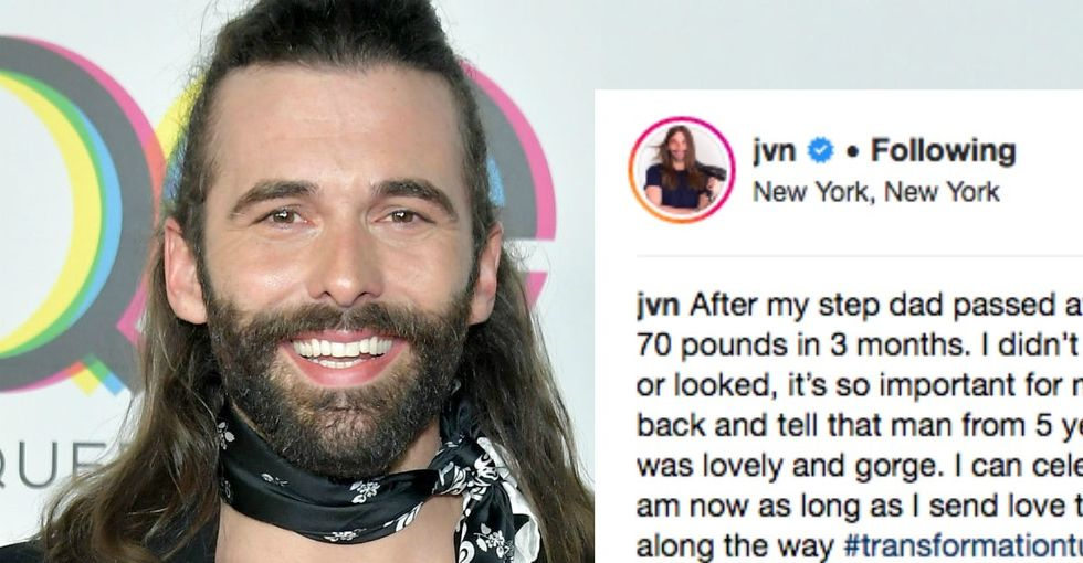 'Queer Eye' Jonathan's before-and-after pic isn't about the before — or the after.