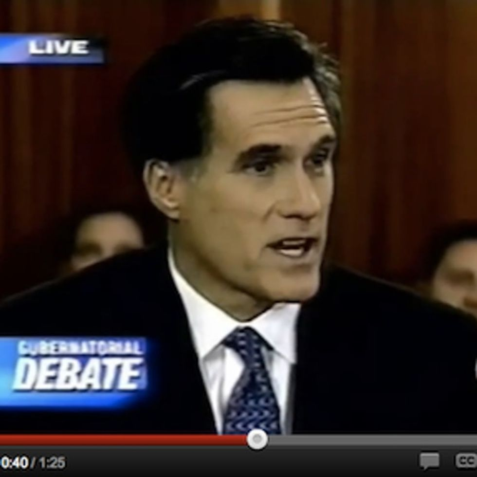 Wouldn't It Be Crazy If We Had Footage Of Romney Denouncing His Own Pro-Life Agenda?