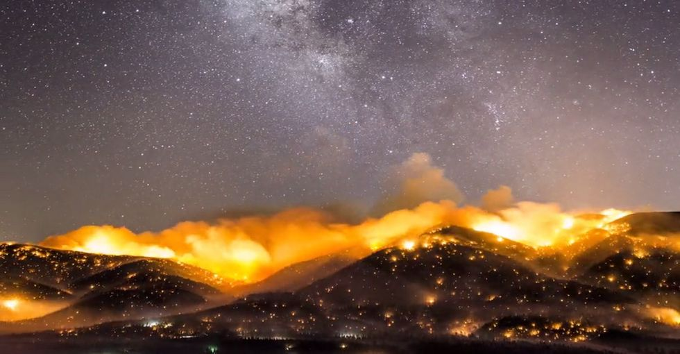 Watch California's wildfires spread in this wild time-lapse video.