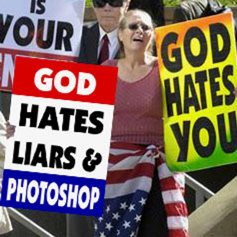 The Westboro Baptist Church Breaks Commandment #9 Like It's Their Job