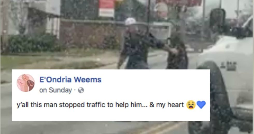 This motorist's kind gesture is a reminder that we should all do good.