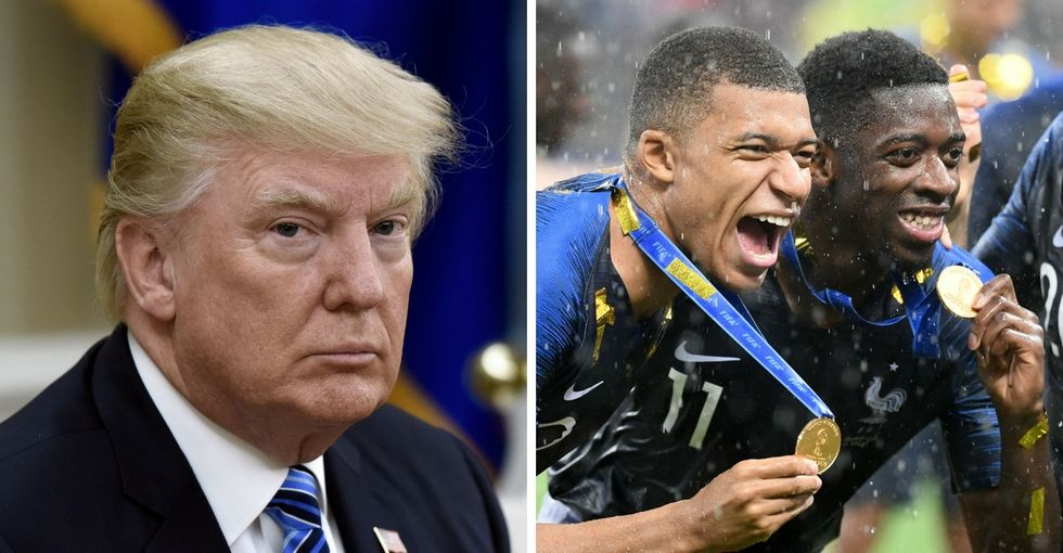 Trump left out one critical fact when congratulating France on the World Cup win.