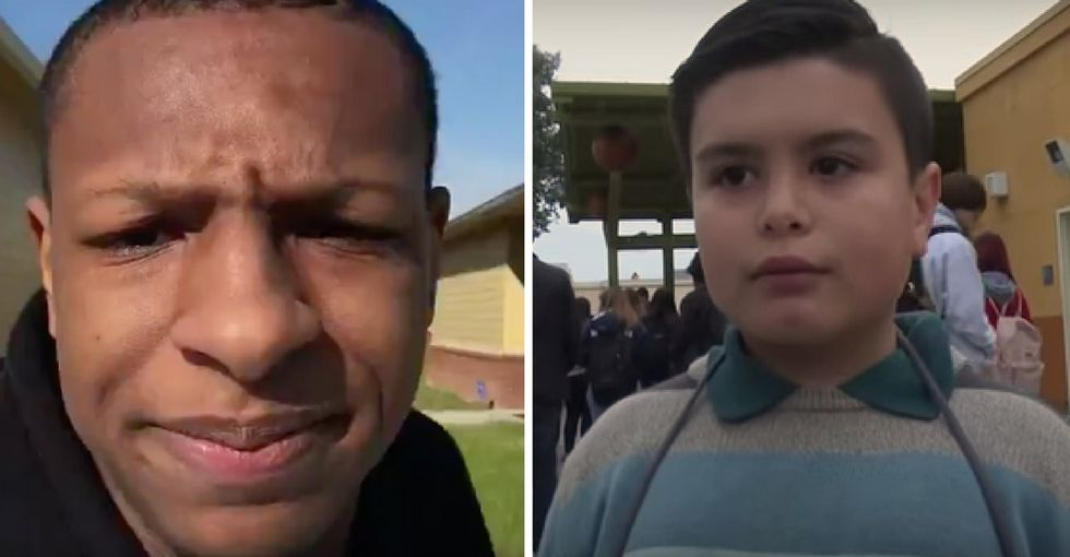 Mad props to these kids who were the only ones in their school to 'walk out.'