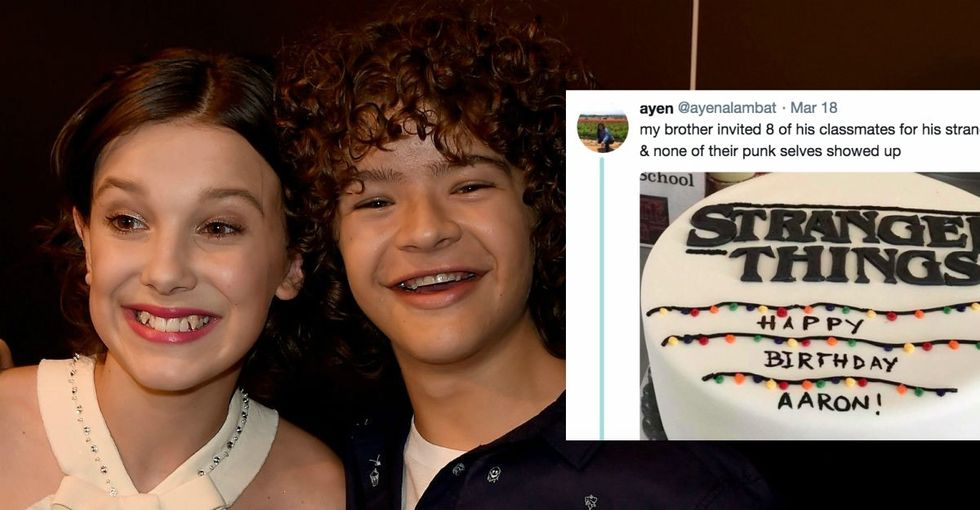 Nobody came to his 'Stranger Things' birthday party. The show's cast found out.