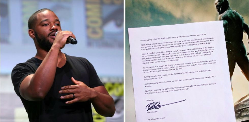 The 'Black Panther' director posted a beautiful letter to his fans.