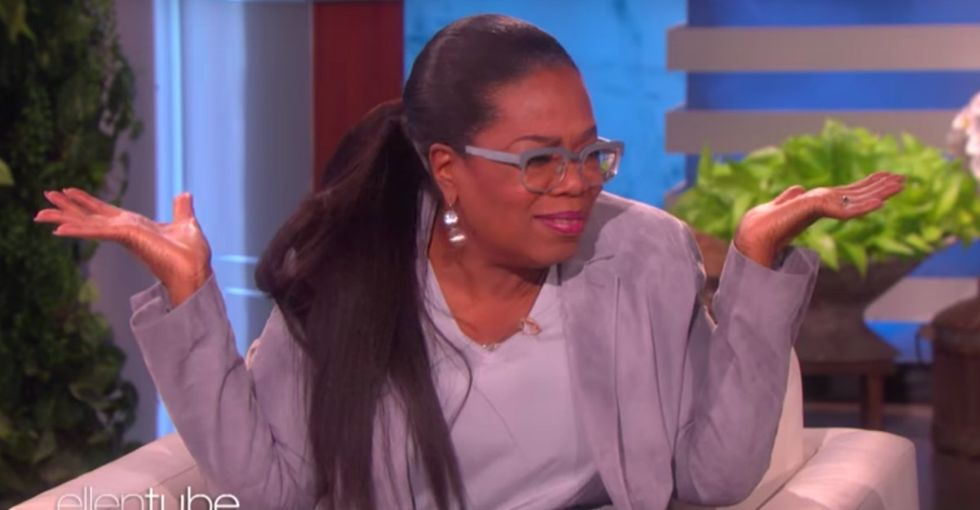 Oprah dished to Ellen what she thought about Trump's tweet attacking her.