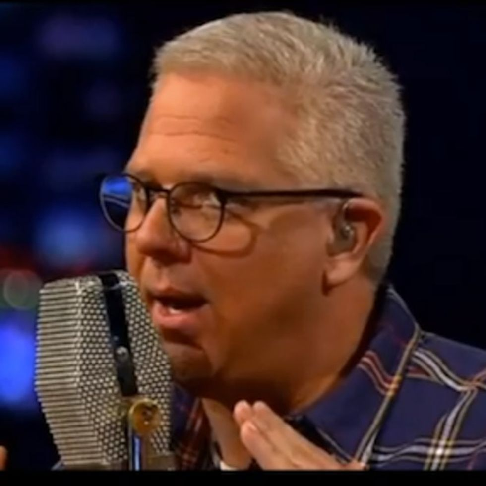 Glenn Beck accidentally explains his sleazy business model on his own show.