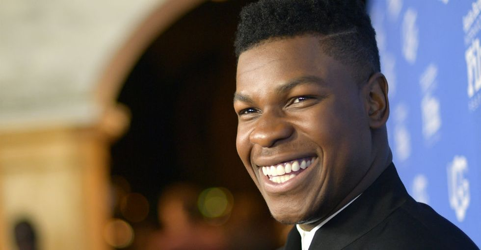 John Boyega has the most glass-half-full way of dealing with critics.