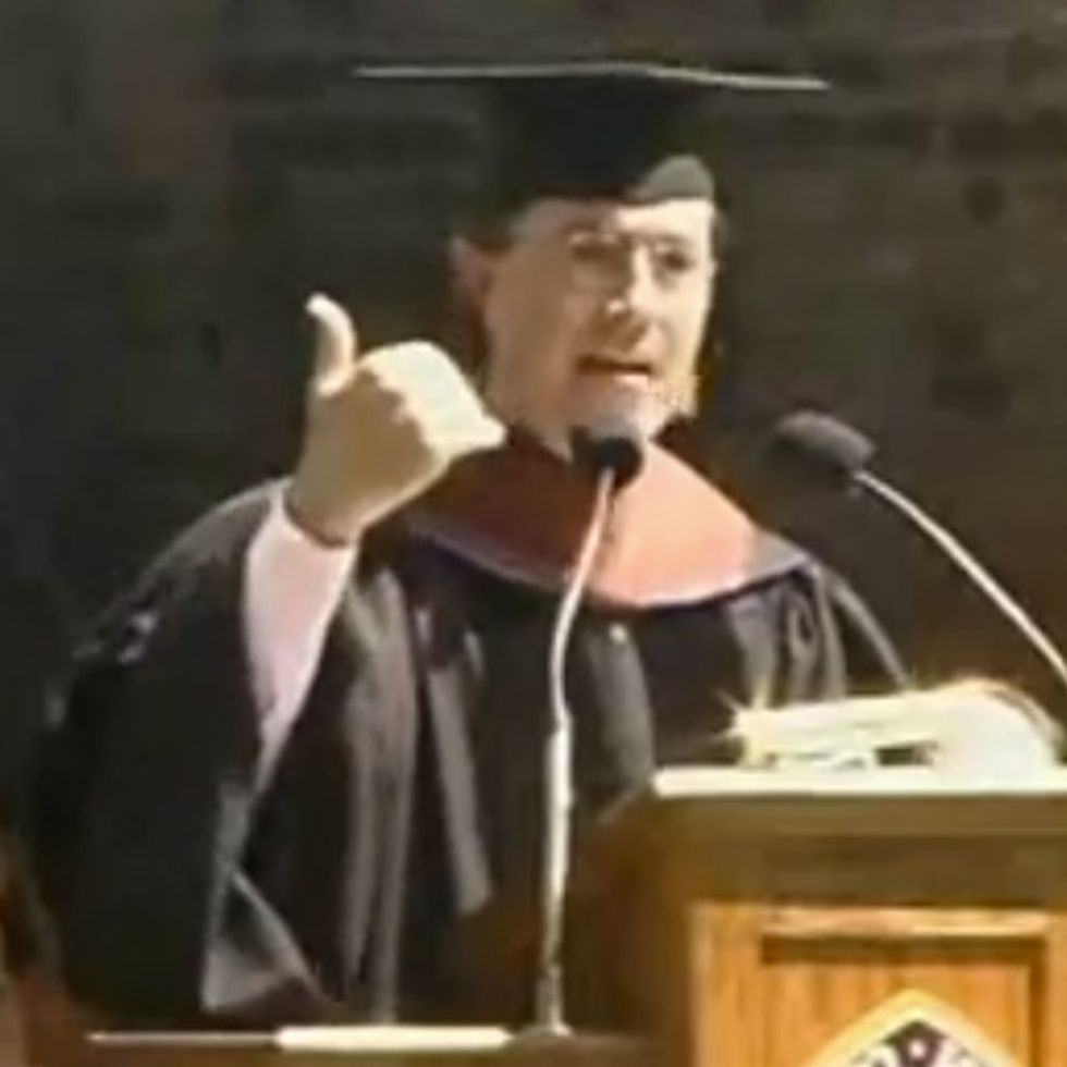 Colbert's Graduation Speech Rips On Everything From Immigration To Safety. The Students Loved It.