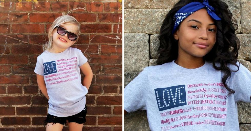 She was tired of the flag being hijacked by hatred. So she made a design to reclaim it.