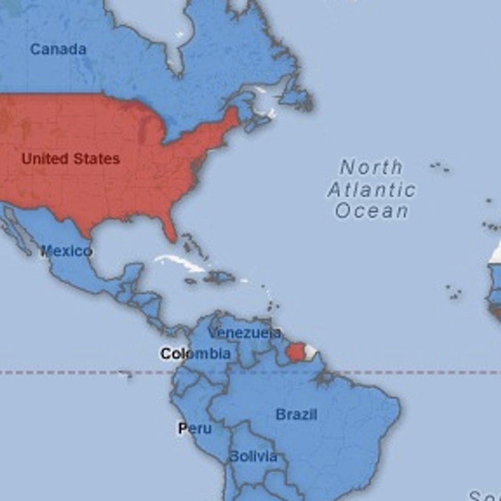 MAP: What's One Thing That Almost Everywhere Else In The World Does Better Than America?