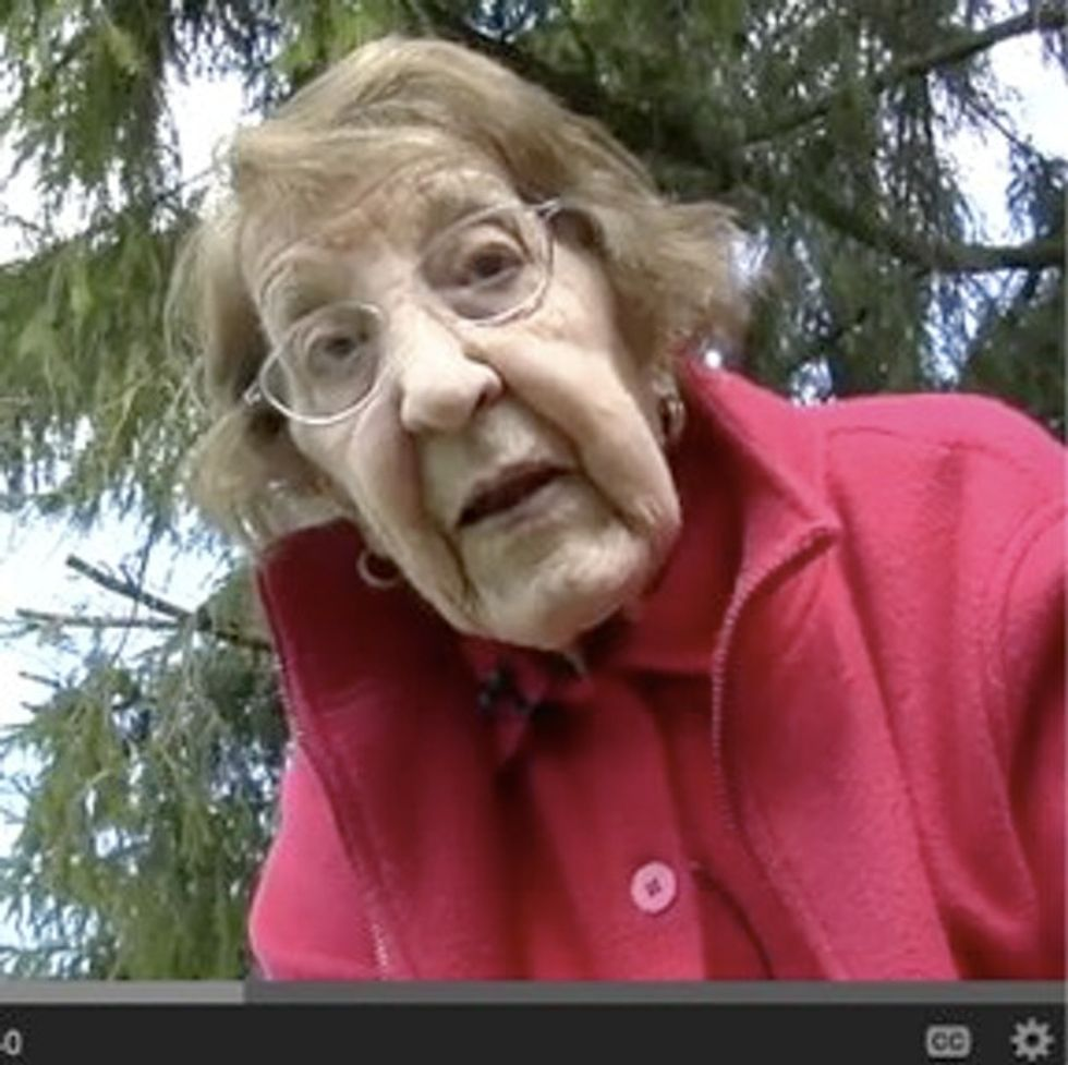 Knife-Wielding Great Grandma Encourages You To Eat Dandelions