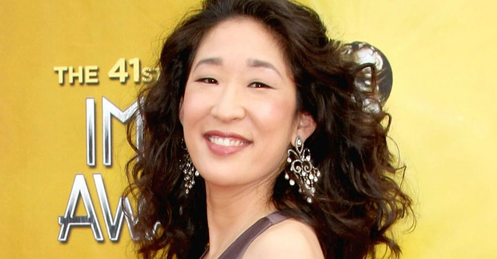 Sandra Oh just made Emmy history, and her reaction was so delightful.