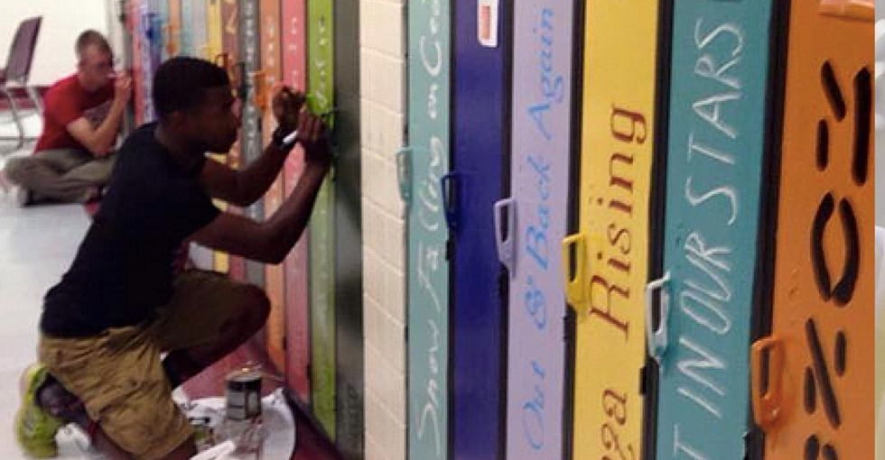 A group of Mississippi teachers turned a boring high school hallway into a work of art