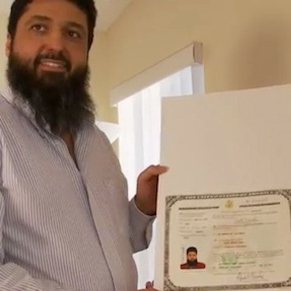 When your immigration paperwork takes 11 years to process, you might be a Muslim.