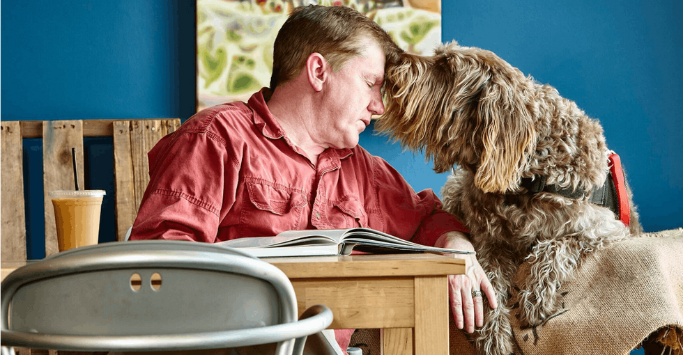 This service dog and veteran are raising awareness for PTSD in inspiring ways.