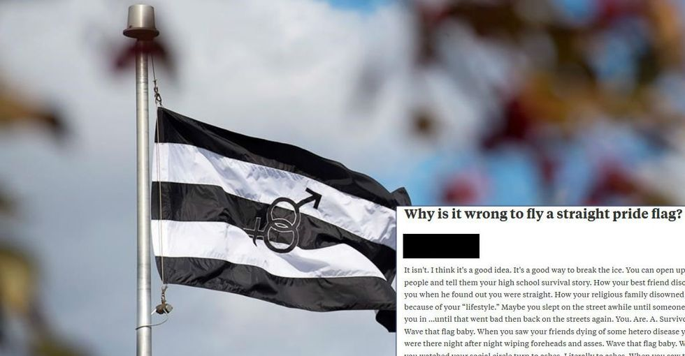 Someone asked 'Why is it wrong to fly a straight flag?' The response is a must-read.