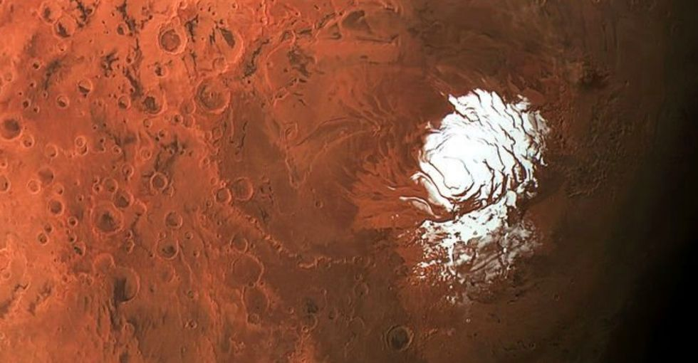 There's a big, salty lake on Mars! Yeah, that's huge. Here's what we know.