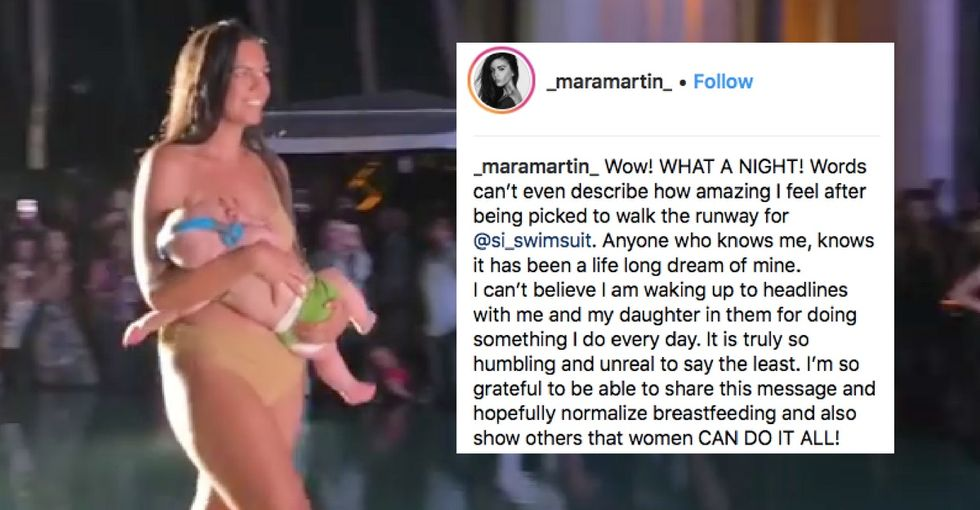 This model who breastfed on the runway says she's not the one who should make headlines.
