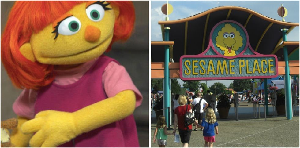 This 'Sesame Street' theme park is making history for kids and families with autism.