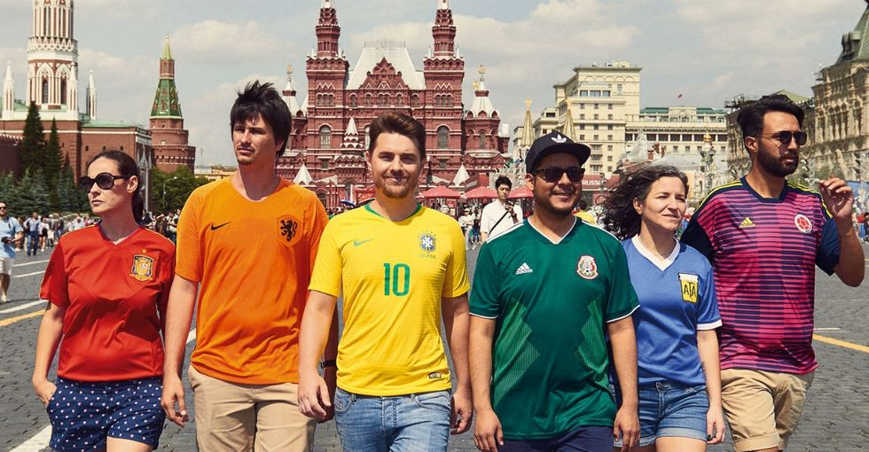 People are loving how these soccer fans trolled Russia using their countries' jerseys.