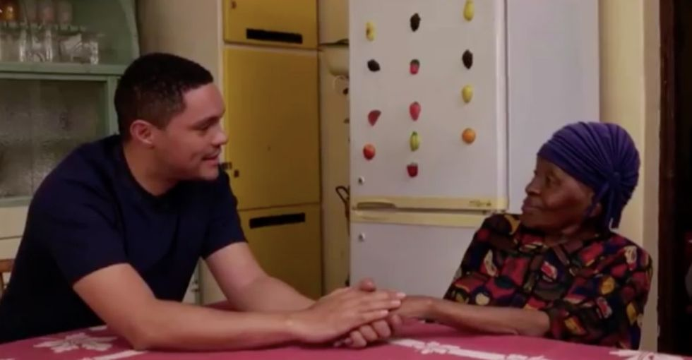Trevor Noah visited his grandma in South Africa, and now we're basically in love with her.