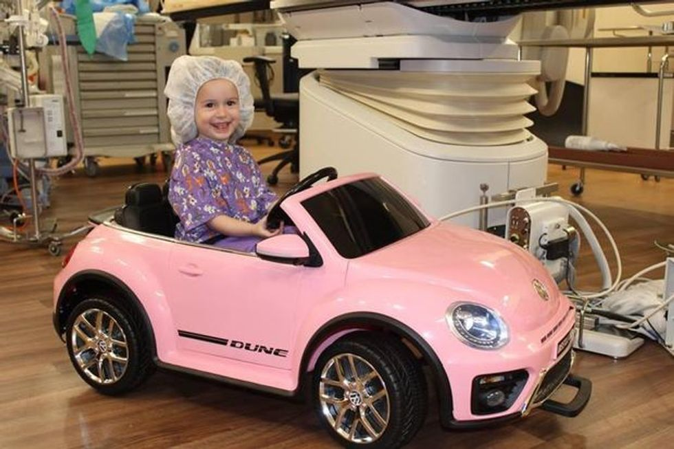 Kids can drive mini cars into surgery at this hospital, leaving their anxiety in the dust.