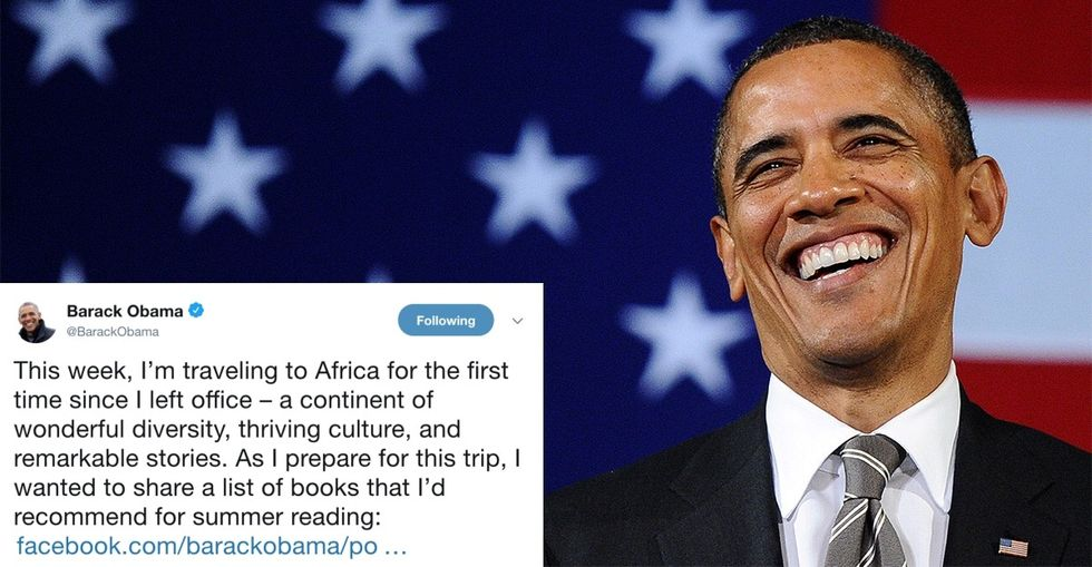 Check out Obama's amazing, unapologetically black summer reading list.