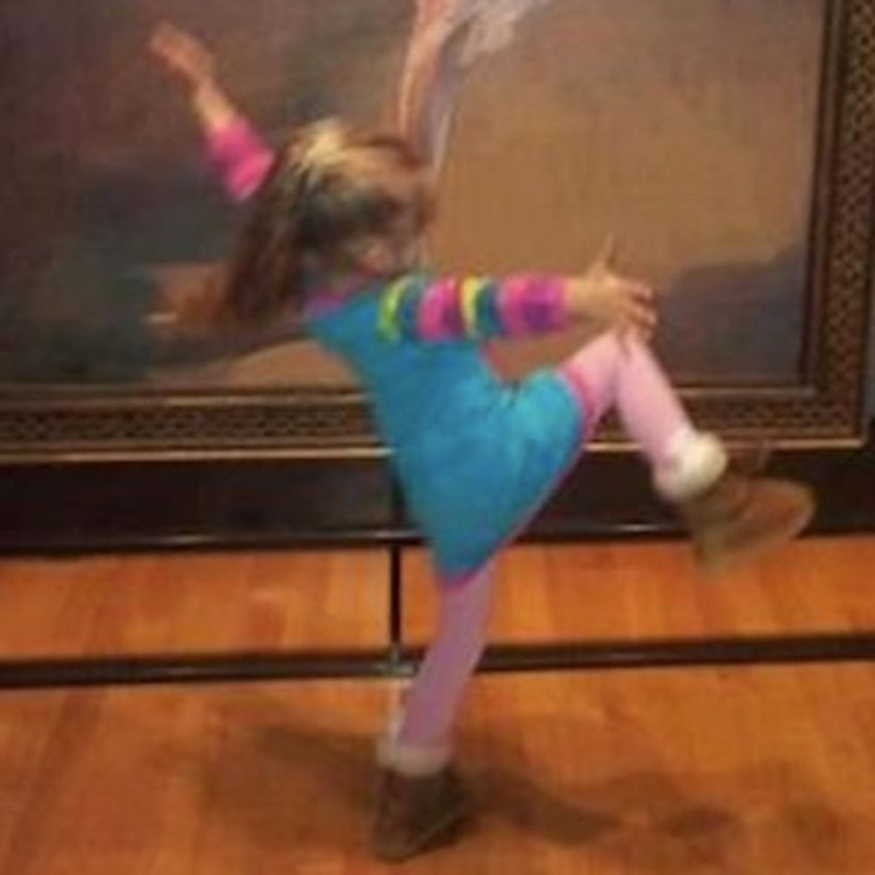 I Challenge You Not To Smile When You See What This Little Girl Is Doing