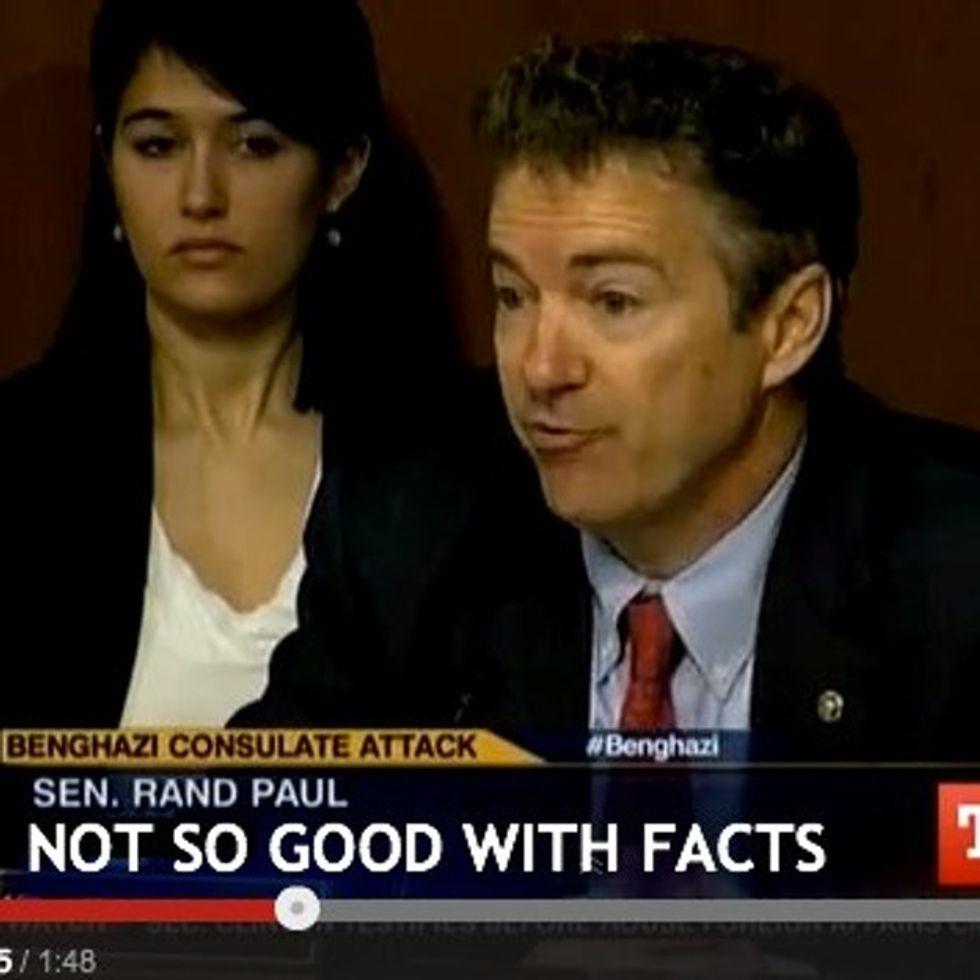 Senator rants at Secretary Clinton, says something incredibly insensitive — and spectacularly wrong.