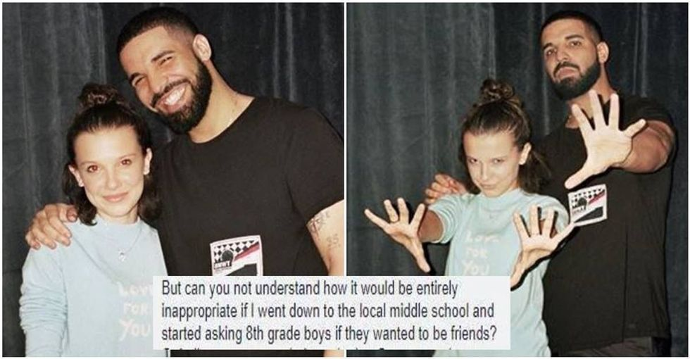 This woman wrote an amazing response to people asking why it's wrong for Drake to be 'friends' with a teenage girl.