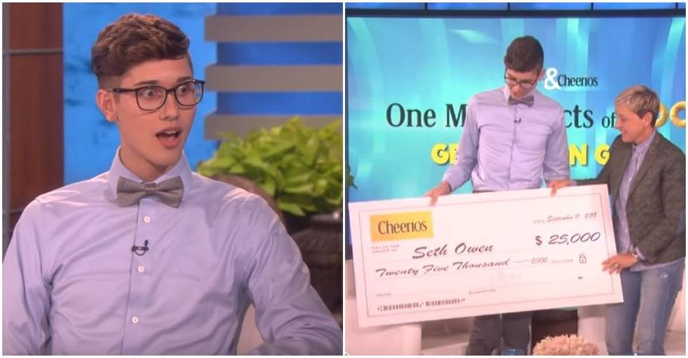 Gay valedictorian rejected by his parents wants to give back and Ellen's here to help.