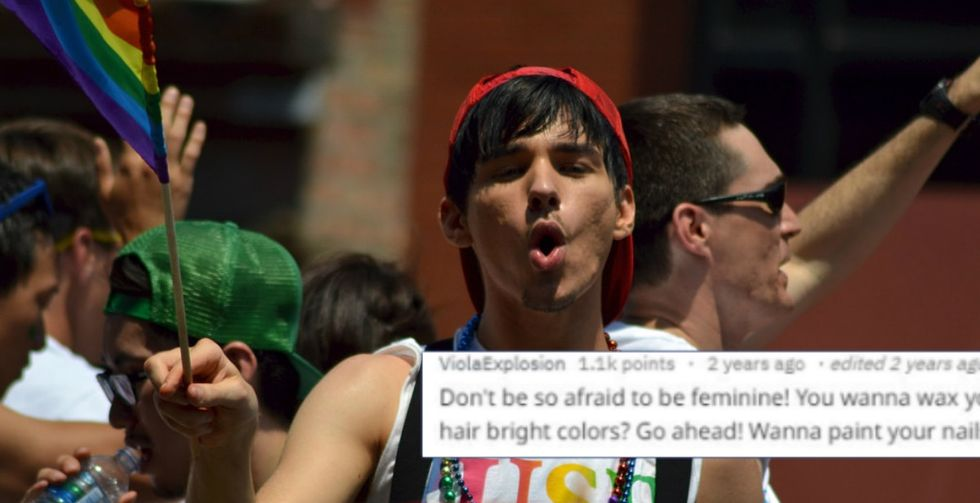 Gay men gave straight guys relationship advice and they'd be dumb not to follow it.