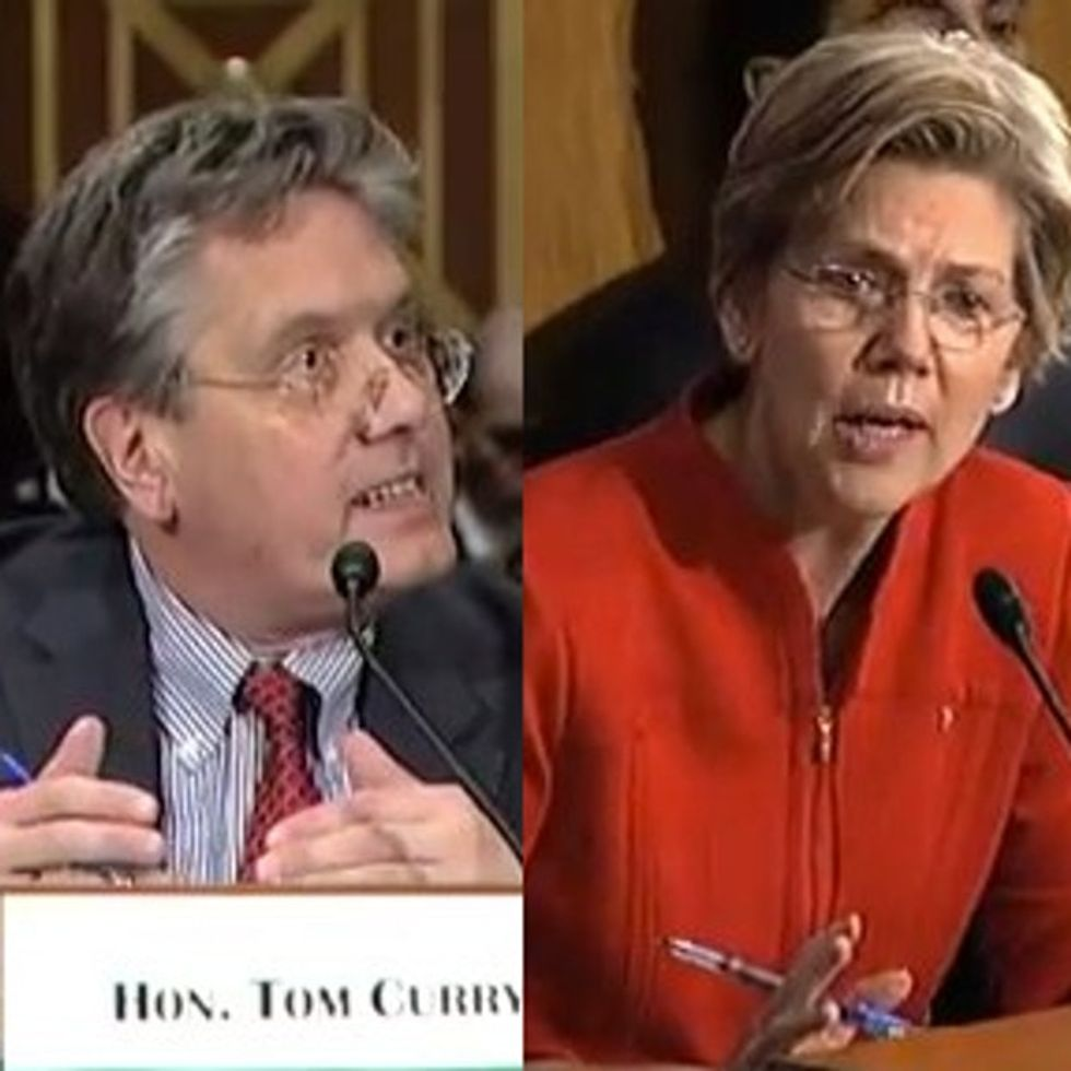 Elizabeth Warren asks the most obvious question ever and stumps a bunch of bank regulators.