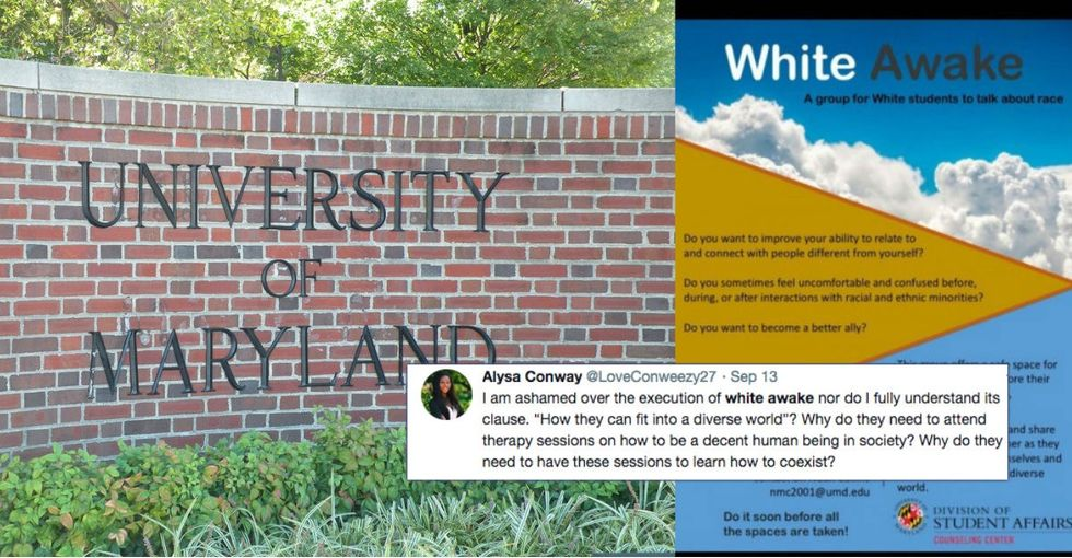 People are blasting this university's 'white awake' student group. But it's kind of genius.