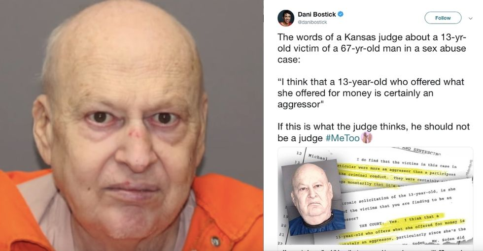 A 67-year-old man solicited a 13-year-old girl for sex. The judge called her 'an aggressor.'
