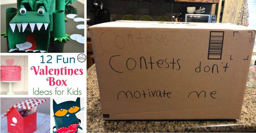 This kid's heroic Valentine Box contest entry has won people's wry, non-crafty hearts.