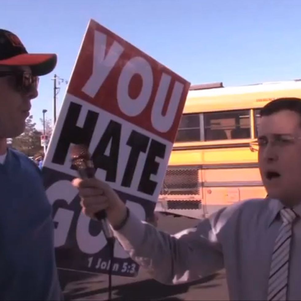 This Man Decided To Humiliate A Hate Group. Hilarity Ensues.