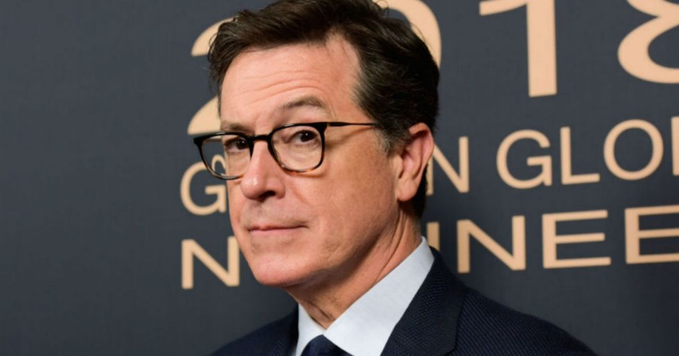 Stephen Colbert didn't hold back after his boss was accused of sexual assault.