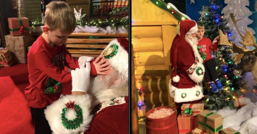 Santa gave this boy who is blind and autistic the best gift. (I'm not crying, you are.)