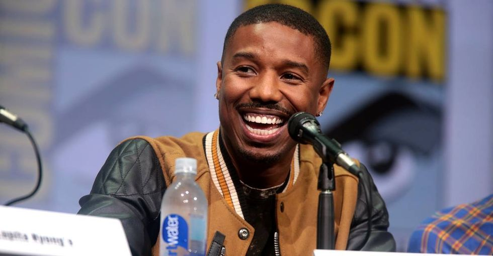 A dateless teen took a Michael B. Jordan cutout to prom and his response was awesome.
