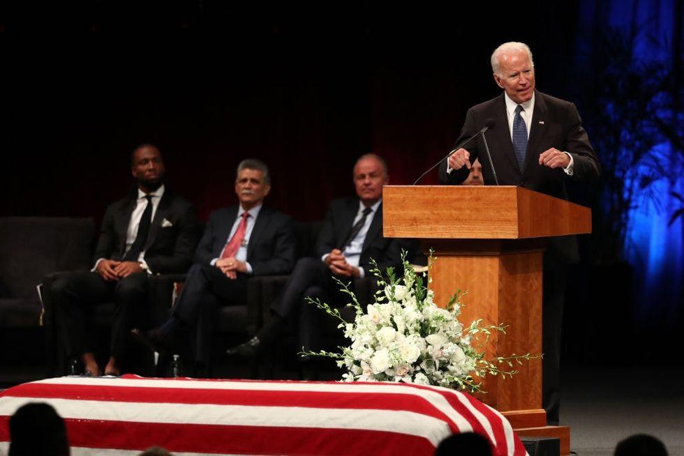 Joe Biden's heartwarming eulogy of John McCain shows us politics at its best.