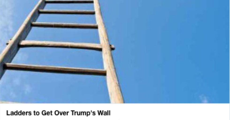 A GoFundMe has raised millions for the wall. Another will fund 'ladders' to get over it.