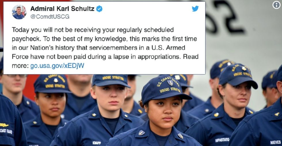 The head of the Coast Guard wrote a must-read letter to servicemembers about the government shutdown.