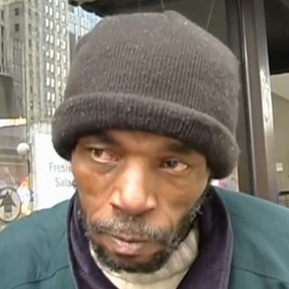 This Man Is Already Homeless. Now Some Idiot Has Made Him Even More Miserable.